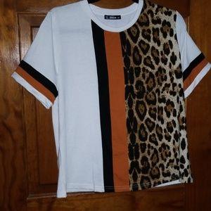 Autumn T Shirt w/leopard print